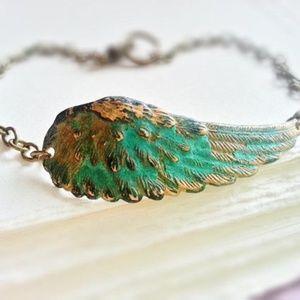 Patina Angel Wing Bracelet
